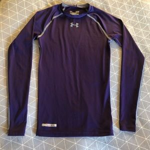 Purple UNDER ARMOUR Long Sleeve Compression Tee